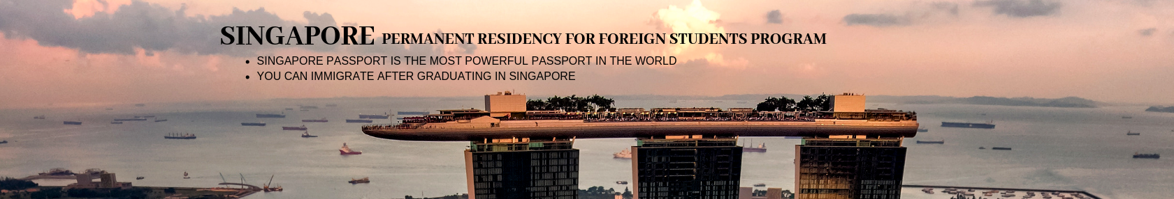 Singapore, Permanent Residency for Foreign Students